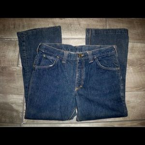 Vtg Lee Selvedge Denim Boot Cut Mens Jeans Size 31